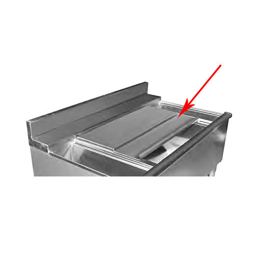 """Eagle Group SC-18/22-12 12"""" Sliding Cover Kit for 1800 and 2200 Series Ice Chests"""