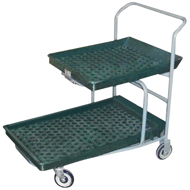 Winholt PNC-1-WM/GR Structural Foam Deck Nesting Customer Cart with Polyurethane Wheels Main Image 1