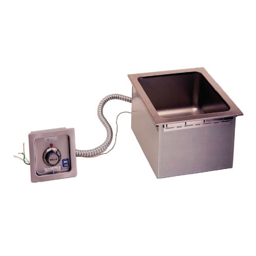 Wells HSW6D Half Size 1 Pan Drop-In Hot Food Well with Drain and Wellslok - Top Mount, Thermostat Control, 208/240V Main Image 1