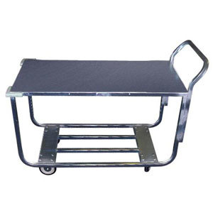 """Winholt WX-1000KA/B-WM Two Shelf Stocking Cart with Bumpers and Handle - 41"""" x 20"""""""