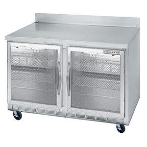 "Beverage-Air WTR48AR-25-LED 48"" Remote Cooled Glass Door Worktop Refrigerator with LED Lighting"