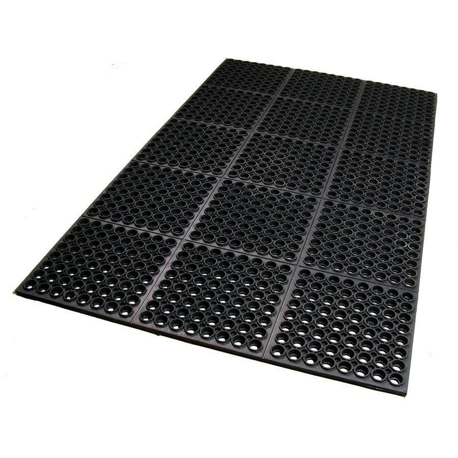 Comanti Fatigue Floor : Black Anti-Fatigue Floor Mat - 3/4