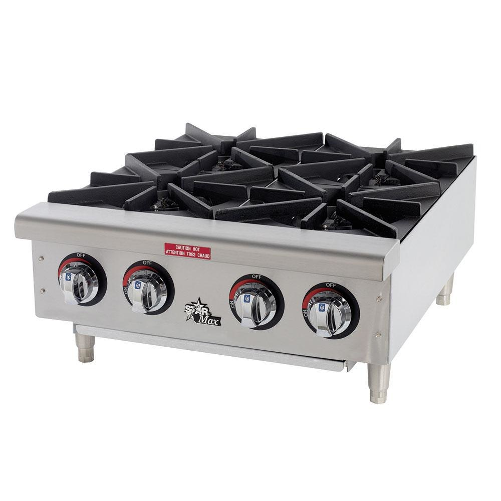 Countertop Stove Burners : Star Max 604HF 4 Burner Countertop Range - 100,000 BTU