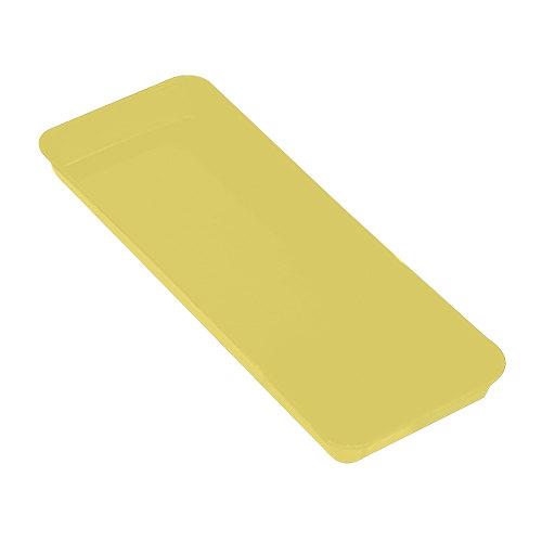 "Cambro 8262MT145 Yellow Fiberglass Market Pan 8"" x 25"" - 12/Case"