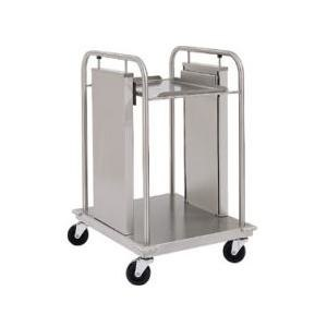 """Delfield TT2-1622 Mobile Open Frame Two Stack Tray Dispenser for 16"""" x 22"""" Food Trays"""