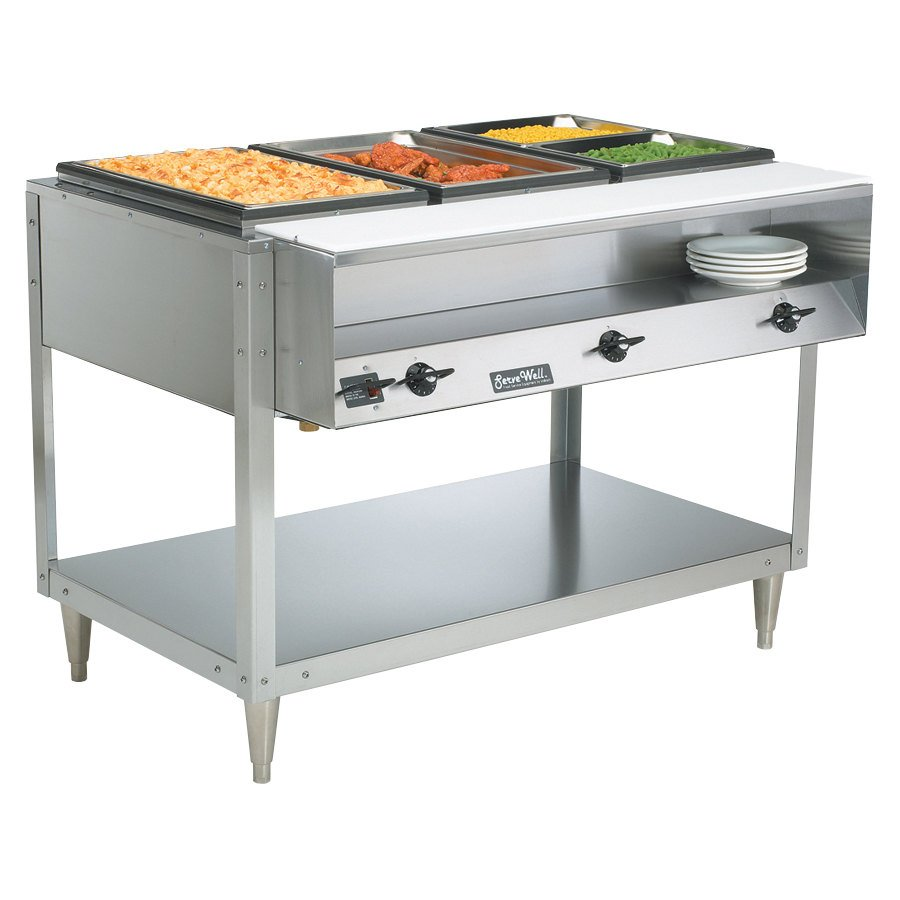 Vollrath 38117 servewell electric three pan hot food table Motorized table