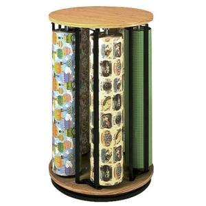Bulman R1499 Revolving Vertical 5 Roll Oak Suzy Rack - Assembled Main Image 1