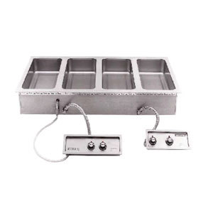 Wells 5P-MOD400TDMAF 4 Pan Drop-In Hot Food Well with Drain Manifolds and Autofill - Dual Thermostatic Control Panels Main Image 1