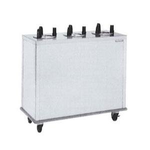 """Delfield CAB3-913QT Quick Temp Mobile Enclosed Three Stack Heated Dish Dispenser / Warmer for 8 1/8"""" to 9 1/8"""" Dishes - 208V"""