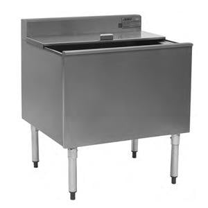 """Eagle Group B36IC-12D-22-7 12"""" Deep Insulated Underbar Ice Chest with 7 Circuit Post Mix Cold Plate - 24"""" x 36"""""""