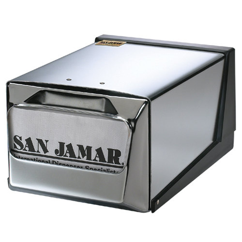 San Jamar H3001XC Fullfold Countertop Napkin Dispenser - Chrome Face with Chrome Body