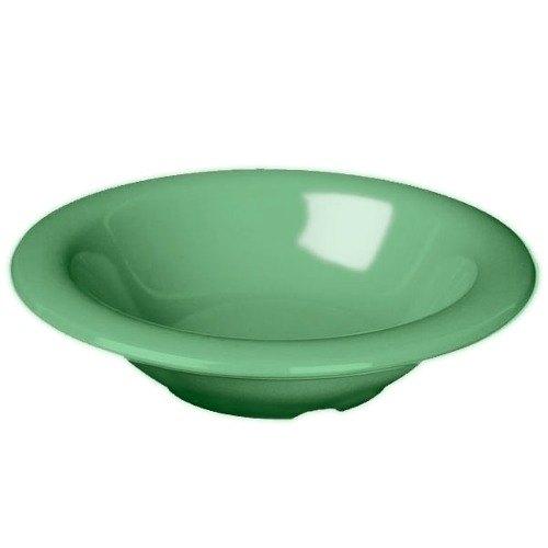 Thunder Group CR5608GR Green 8 oz. Melamine Salad Bowl - 12/Case