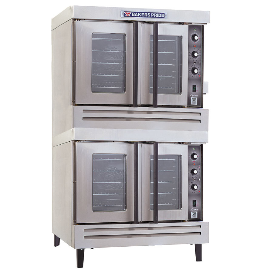 Double Deck Convection Oven Bakers Pride BCO-G2 Cyclone Series Double Deck Gas ...