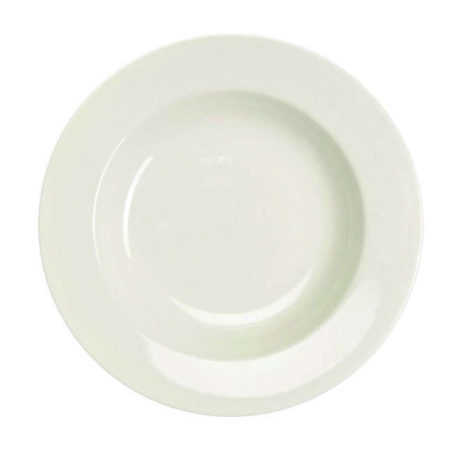 Homer Laughlin 38000 24 oz. Ivory (American White) Rolled Edge China Pasta Bowl - 12/Case