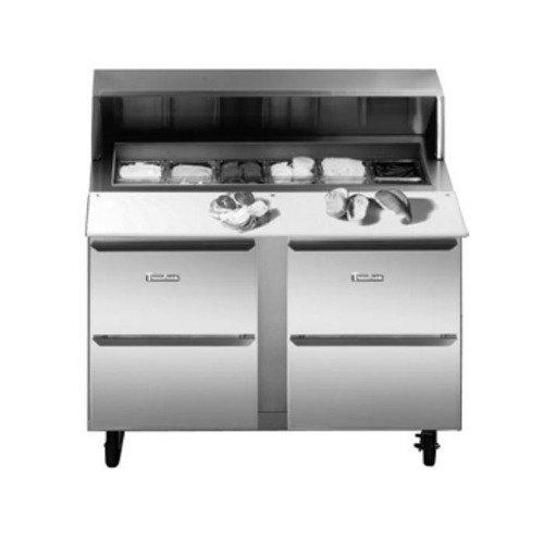"Traulsen UPT7212-DD 72"" 4 Drawer Refrigerated Sandwich Prep Table Main Image 1"