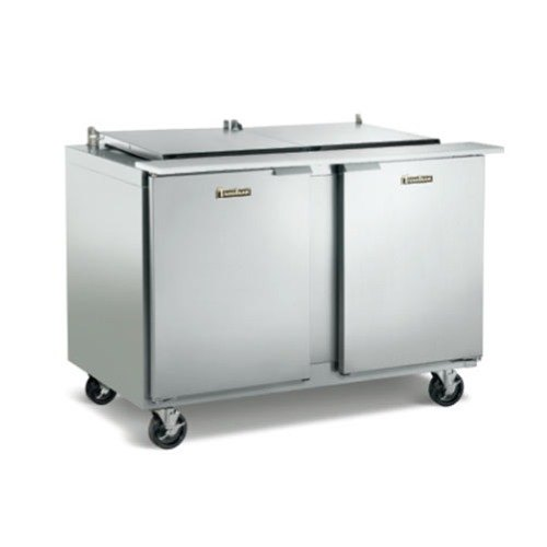 "Traulsen UPT7224-RR 72"" 2 Right Hinged Door Refrigerated Sandwich Prep Table"