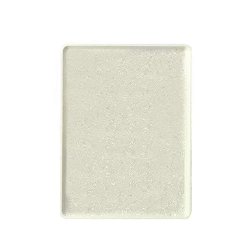 "Cambro 1219D531 12"" x 19"" Galaxy Antique Parchment Silver Dietary Tray - 12/Case"