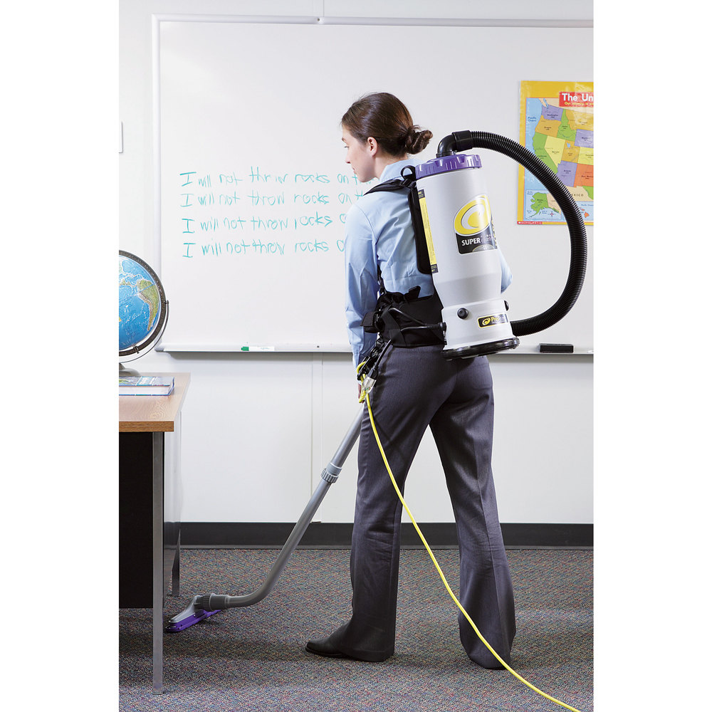 ProTeam 107118 6 Qt Super QuarterVac HEPA Backpack Vacuum Cleaner