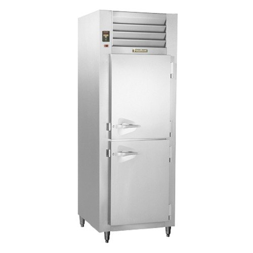 Traulsen RHT132NUT-HHS Stainless Steel 21.9 Cu. Ft. One Section Half Door Narrow Reach In Refrigerator - Specification Line