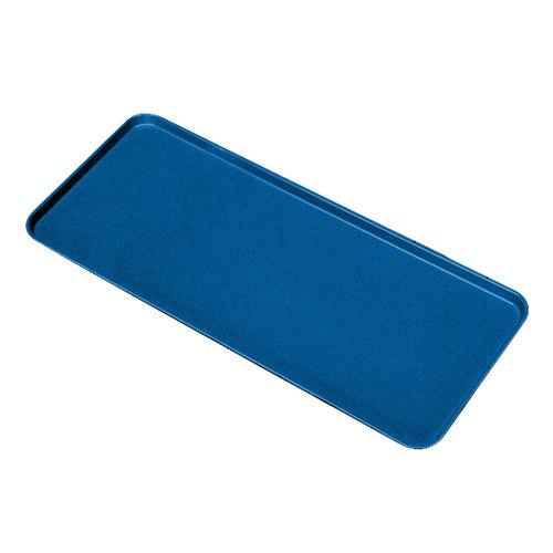 """Cambro 926MT142 Blue Fiberglass Market Tray 9"""" x 26"""" - 12/Case"""