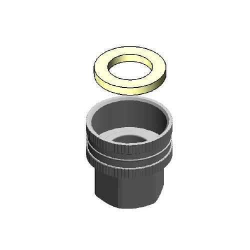 "T&S 002957-25 Garden Hose Adapter with 1/2"" NPT and 3/4"" Female Connections"