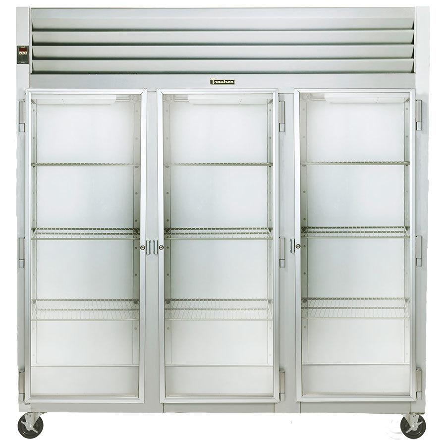 ... Glass Door Reach In Refrigerator - Left / Right / Right Hinged Doors