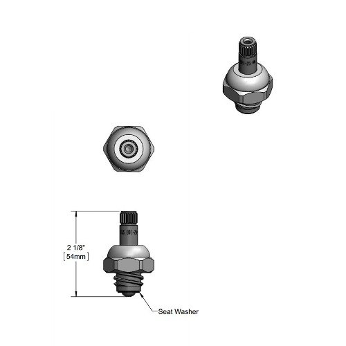 T&S 009754-25 Spindle Assembly for Cold Left to Close B-1100 Faucets