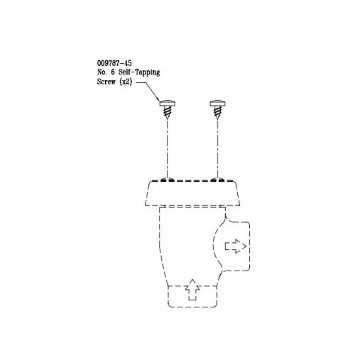T&S 009787-45 Self-Tapping Vacuum Breaker Cap Screws for B-0968 Vacuum Breaker