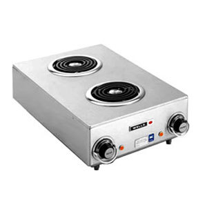 Wells H-115 Countertop Two Burner Electric Hot Plate - 120V, 1650W Main Image 1