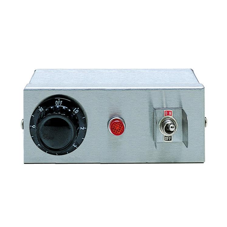 APW Wyott 70402012 Remote Control Box Enclosure for Calrod Strip Warmers (2) Infinite 208V, (1) Toggle 120/240V, (1) Indicator Light Main Image 1