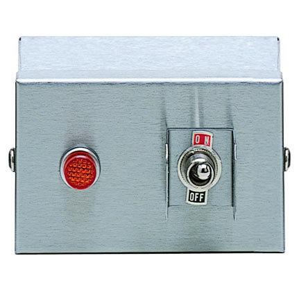 APW Wyott 70402013 Remote Control Box Enclosure for Calrod Strip Warmers (2) Infinite 240V, (1) Toggle 120V, (1) Indicator Light