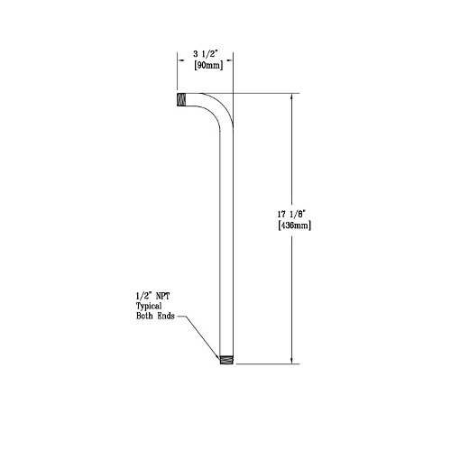T&S 011985-40 Pipe Outlet for B-0455-04 and B-0456-04 Vacuum Breakers Main Image 1