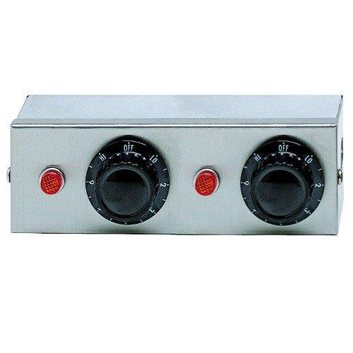 APW Wyott 76978 Remote Control Box Enclosure for Calrod Strip Warmers (2) Infinite 208V Main Image 1