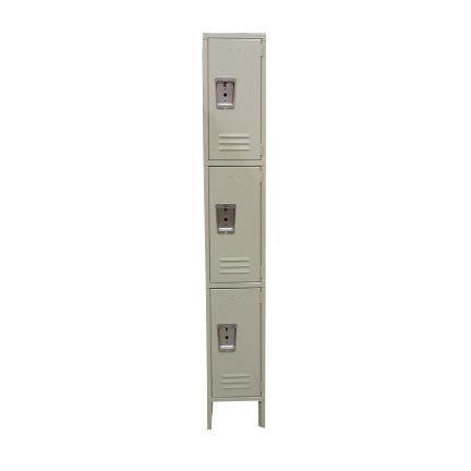 "Single Column 3-Tier Locker 18"" x 12"""