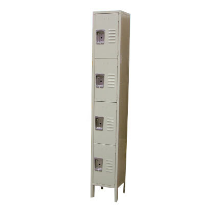 "Single Column 4-Tier Locker 18"" x 12"" Main Image 1"