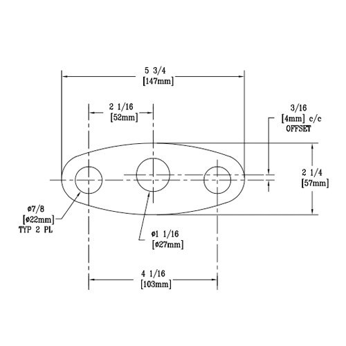T&S 014167-45 Deck Gasket for B-2710 and B-2711 Faucets