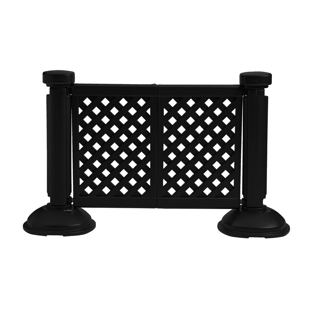 Merveilleux Colors Grosfillex US962117 2 Panel Resin Patio Fence   Black