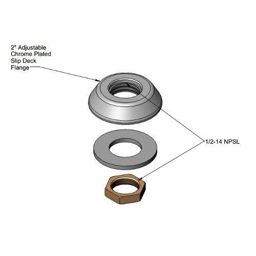 T&S 016783-40 Adjustable Deck Flange Assembly