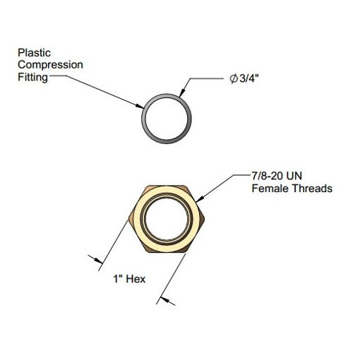 T&S 016749-45 Easy Install Side Body Support Washer
