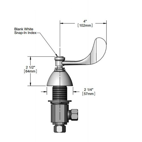 T&S 161A Cold Side Body Assembly for B-0850 Faucets Main Image 1