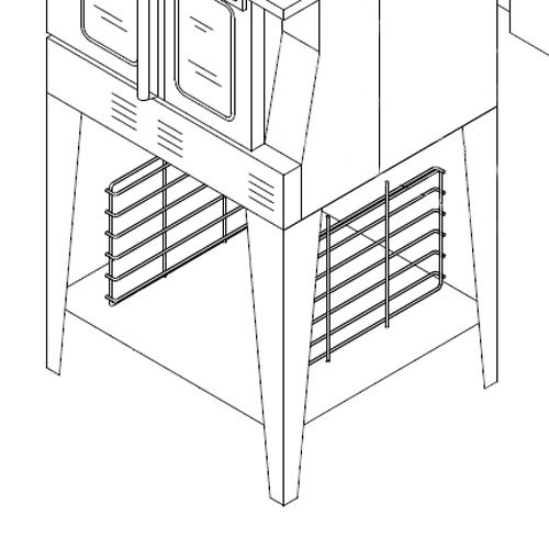 Garland 1951213-0001 Equipment Stand with Rack Guides and Shelf for MCO, MP, SUMG, and SCO Convection Ovens Main Image 1