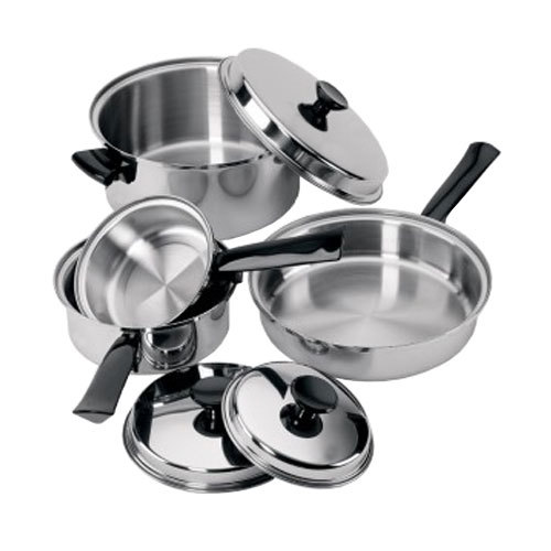 7 Piece Tri Ply Lodging Industry Cookware Set With