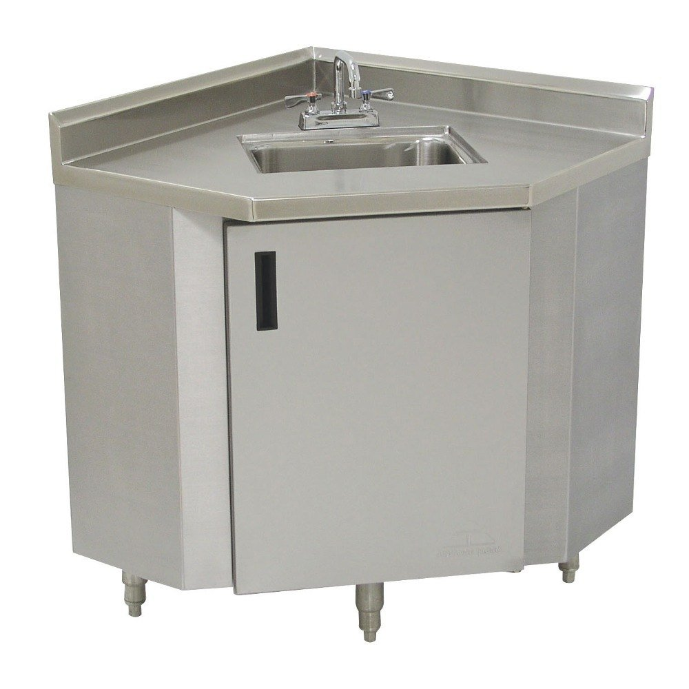 Advance Tabco Shk 2441 Stainless Steel Corner Sink Cabinet 24 Width