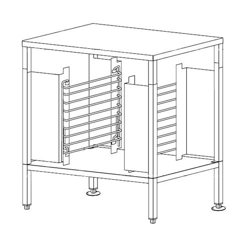 Garland A113600 Equipment Stand with Rack Guides for MCO-E-5-C Convection Oven Main Image 1