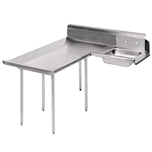 Left Table Advance Tabco DTS-D30-60 5' Spec Line Stainless Steel Dishlanding Soil L-Shape Dishtable