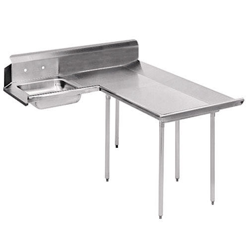 Right Table Advance Tabco DTS-D30-48 4' Spec Line Stainless Steel Dishlanding Soil L-Shape Dishtable