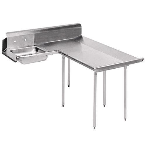 Right Table Advance Tabco DTS-D30-60 5' Spec Line Stainless Steel Dishlanding Soil L-Shape Dishtable