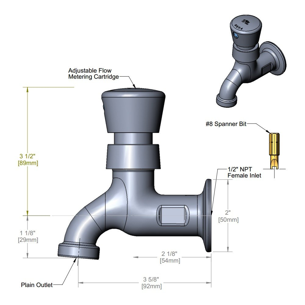 Sink With Faucet : 0700-01 Single Sink Metering Faucet with Adjustable Flow ...