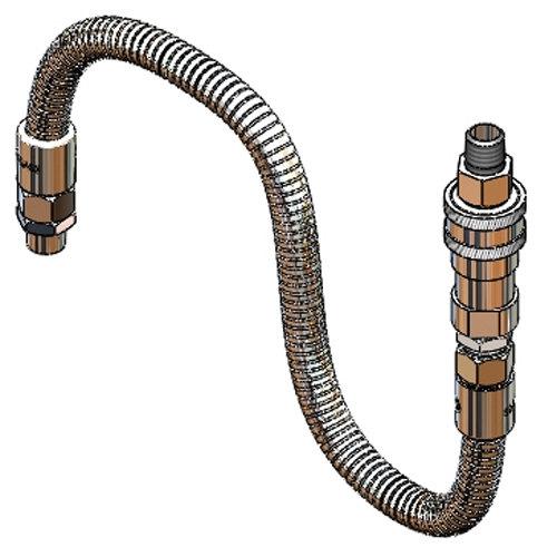 "T&S B-1433-03 20"" Stainless Steel Flex Hose for Hose Reels"