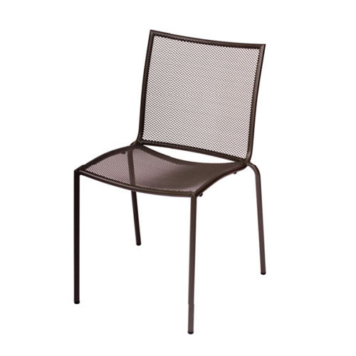 BFM Seating Abri DV948A Wrought Iron Outdoor Stackable Mesh Chair Anthracit